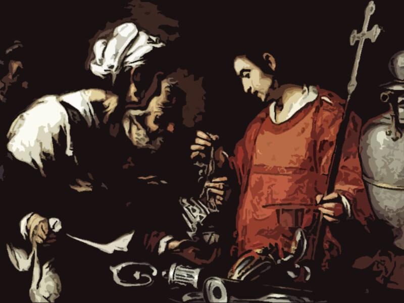 la carità di san lorenzo - Bernardo Strozzi 1620