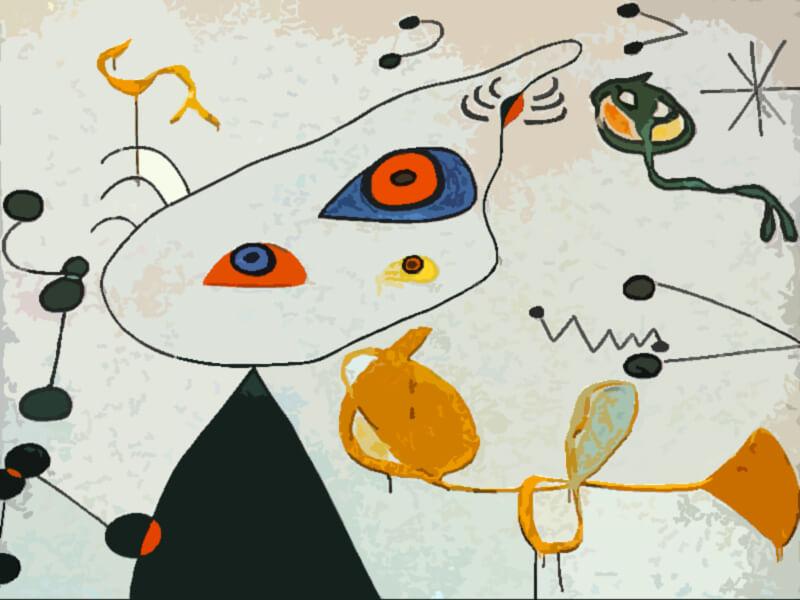 Donne e uccelli nella notte Joan Miro 1975