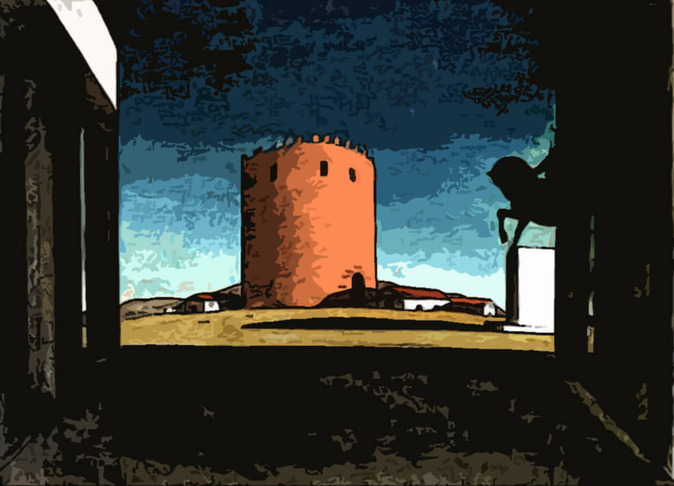 la torre rossa - Giorgio de Chirico 1913
