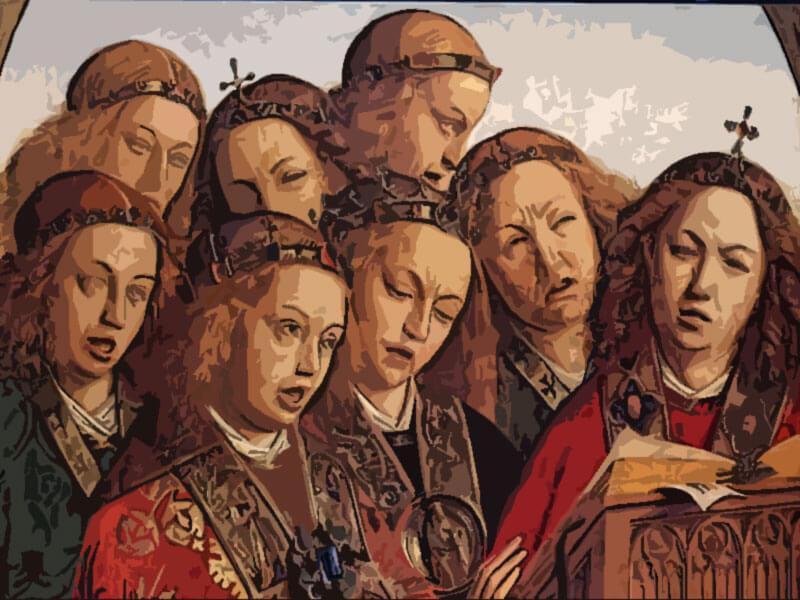 Quadro Gli angeli cantori - Van Eyck