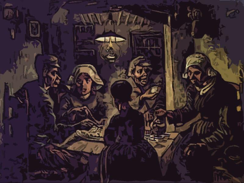 quadro famoso I mangiatori di patate -Vincent Van Gogh 1885