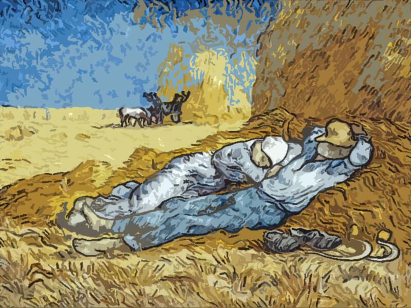 La meridiana La-siesta Van-Gogh_1889-1890