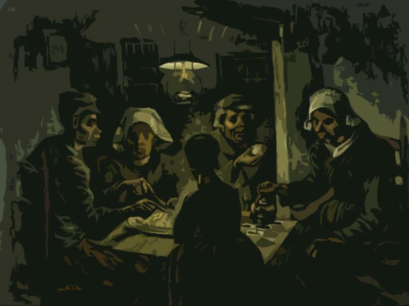 Mangiatori di patate - Vincent Van Gogh