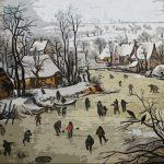Paesaggio invernale - Pieter Bruegel il Giovane 1566