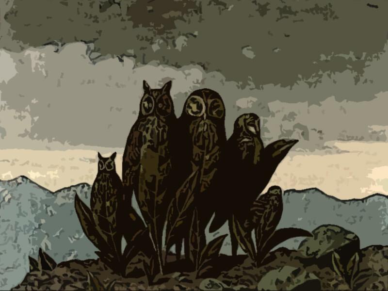 quadro compagni di paura - Magritte 1942