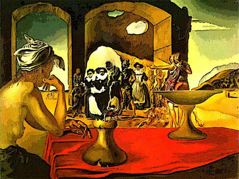 Mercato degli Schiavi (e Voltaire) - Salvador Dalì 1940