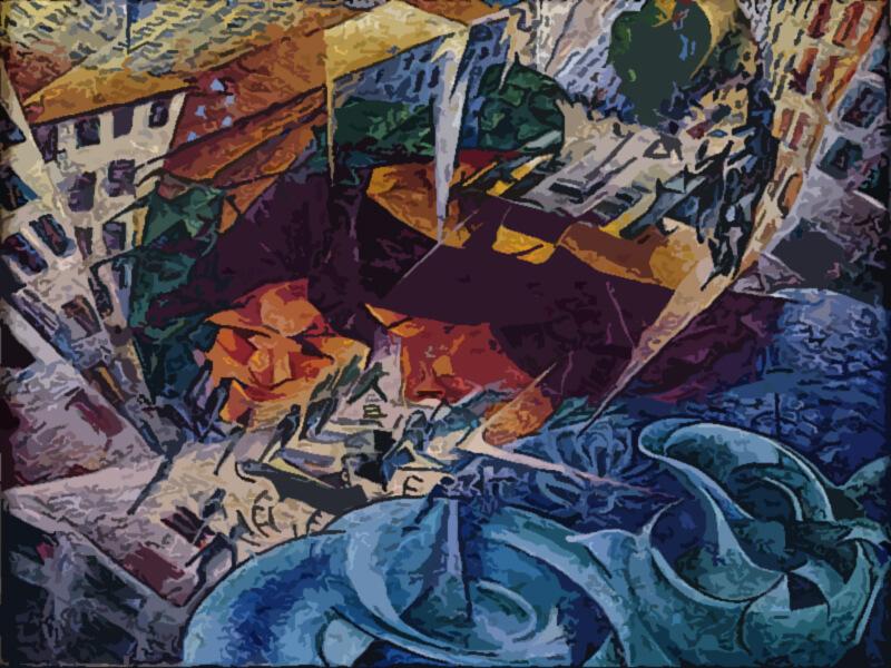 Visioni simultanee - Umberto Boccioni 1911