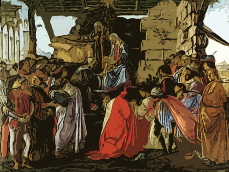 Quadro adorazione dei magi Botticelli 1475