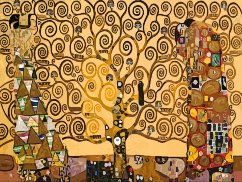Gustav Klimt L'albero della vita