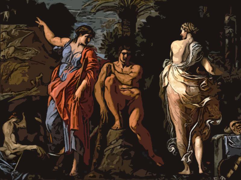 La scelta di Eracle - Annibale Carracci 1596