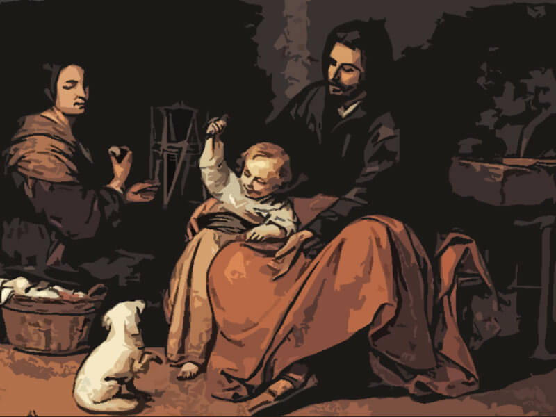 la sacra famiglia - Bartolome Esteban Murillo 1650