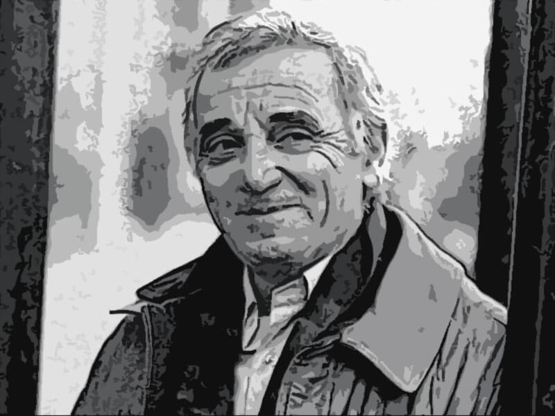 Charles Aznavour famoso cantautore francese