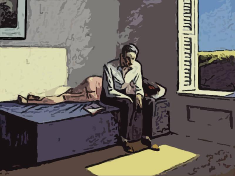 Quadro sulla filosofia di Edward Hopper