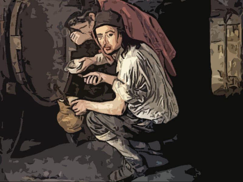 gli spillatori di vino - Giacomo Ceruti