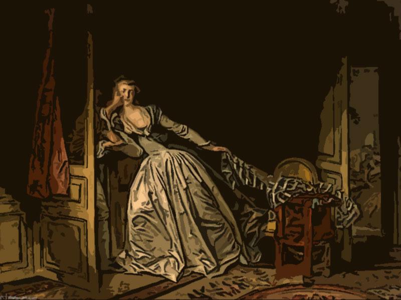 il bacio rubato - Jean Honoré Fragonard 1788