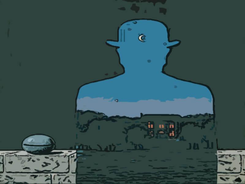 il donatore felice - Magritte 1966