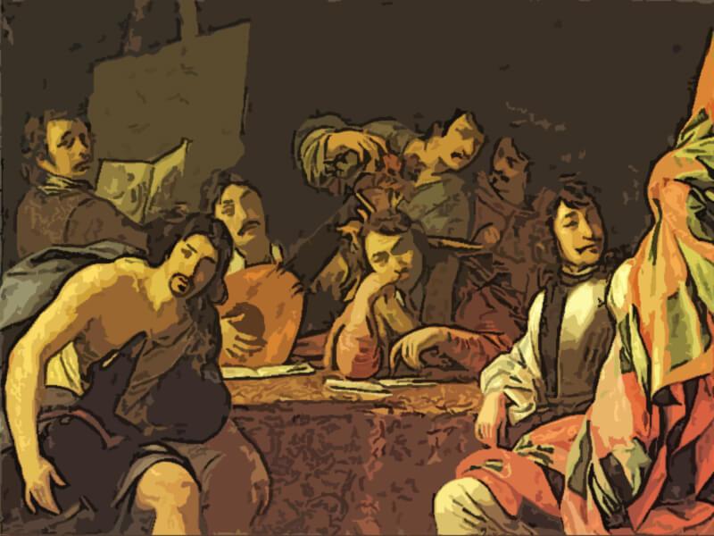Incontro di amici - Eustache Le Sueur 1640