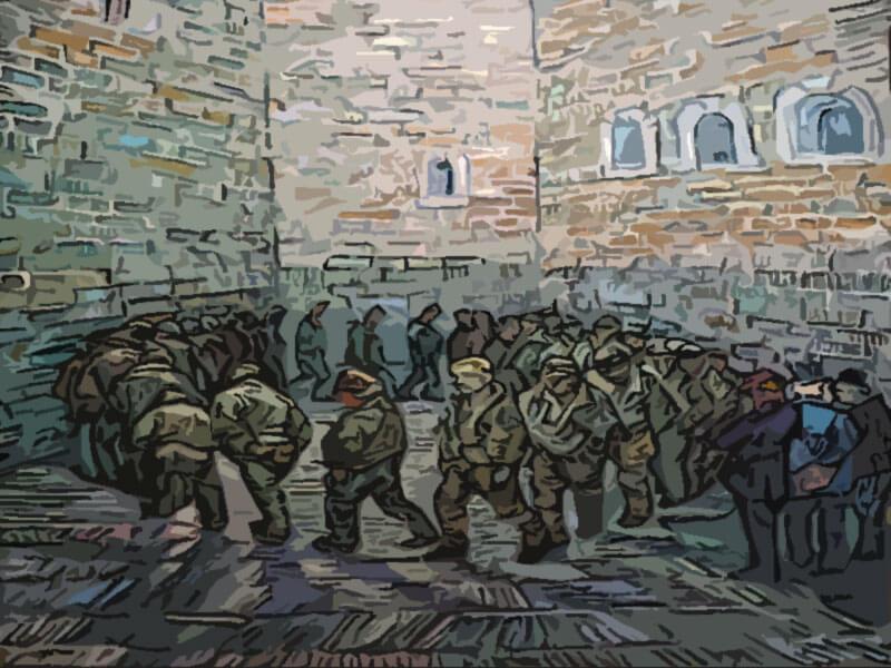 la ronda dei carcerati - determinazione - Van Gogh 1890