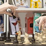 libri frasi divertenti e gioco scacchi