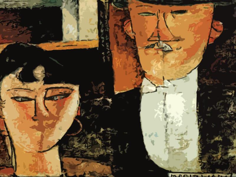 Gli sposi - Amedeo Modigliani 1915