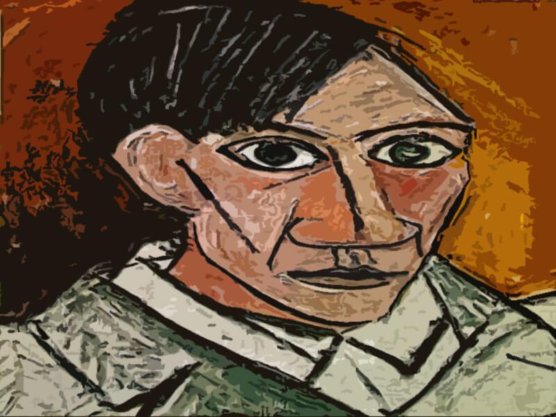 autoritratto artista - Pablo Picasso 1907