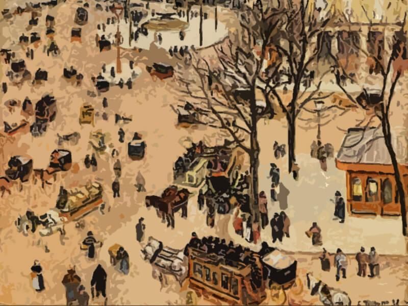 piazza del teatro francese - Camille Pisarro 1898