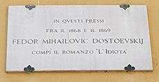 targa commemorativa fedor dostoevskij firenze
