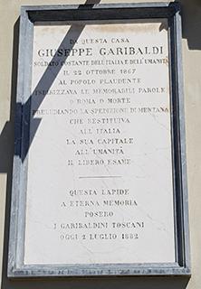 Targa giuseppe garibaldi Firenze