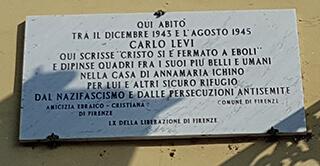 Targa Carlo Levi a Firenze