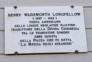 Targa Henry Longfellow Firenze piazza Santa Maria Novella