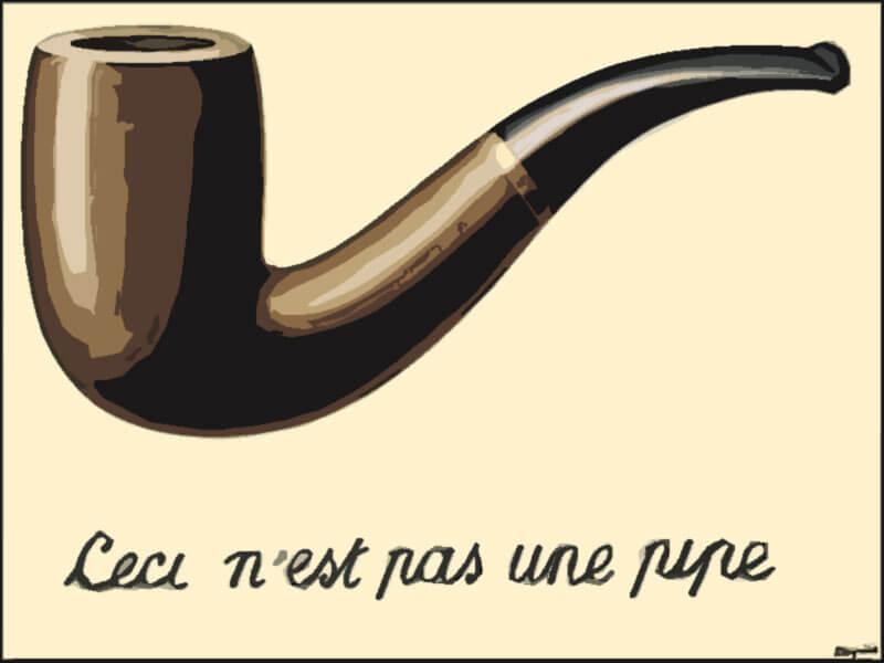 Quadro celebre Il Tradimento delle immagini - René Magritte 1929